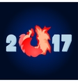 2017 the year of the fire rooster vector image vector image