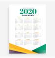 2020 new year calendar design template