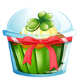 A cupcake inside the container vector image vector image