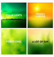 abstract nature blurred background set vector image vector image