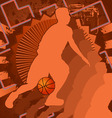 basketball vintage design vector image