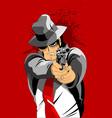 black hat killer vector image vector image
