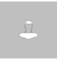 Boy head computer symbol vector image vector image