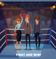 business fights conceptual background vector image