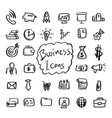 business object icon set with gray shadow vector image