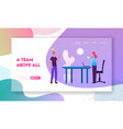 businesspeople team project ideas development vector image vector image