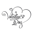 Caligraphic Text Valentines Day vector image vector image