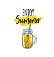 calligraphy with lemonade vector image