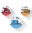 car line icon concept pickup car flat image vector image vector image