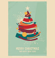colorful christmas tree made from geometric shapes vector image vector image