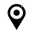 contour location graphic symbol design icon vector image