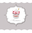 Cupcake invitation card vector image vector image