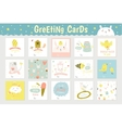 Cute square cards vector image vector image