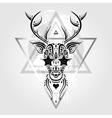 deer head tribal pattern vector image vector image