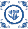 Delft Blue tulips vector image vector image