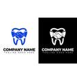 dental logo design clinic creative company vector image vector image