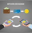 design concept of cryptocurrency technology vector image