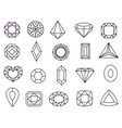 diamond icons jewels diamonds gems diamantes vector image vector image