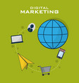 digital marketing business vector image vector image