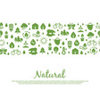 eco icons banner natural save nature elements vector image vector image