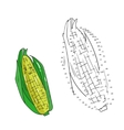 Educational game connect dots to draw corn vector image vector image