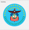 emblem of columbus vector image