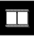 film frame icon flat vector image