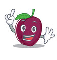 finger plum mascot cartoon style vector image