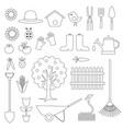 gardening digital stamps vector image vector image
