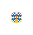 globe plane aero logo vector image