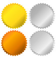 gold silver bronze and platinum badges seals vector image vector image
