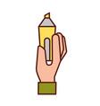 graphic designer hand holding marker pen vector image vector image