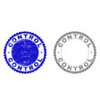 grunge control textured stamps vector image vector image