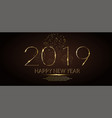 happy new year 2019 winter holiday greeting card vector image vector image