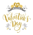 Happy Valentines Day Hand drawn lettering design vector image vector image