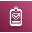 heart and tick icon health medical sign symbol vector image