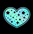 heart symbol made iridescent holographic vector image