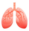 human lungs icon cartoon style vector image vector image