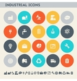 Industrial icons Multicolored flat buttons vector image vector image