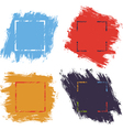 Ink brush strokes color vector image vector image