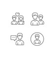 male and female profile and couple icons vector image vector image