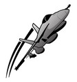 military fighter jet airplane vector image vector image