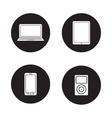 Modern gadgets black icons set vector image vector image
