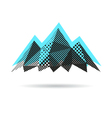 Mountain abstract isolated vector image vector image