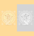mythological dancing maidens vector image