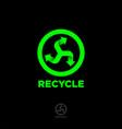 recycling icon environmental protection vector image