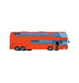 red double-decker coach big tour bus isolated on vector image