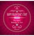 red valentines day greeting card with hearts vector image vector image