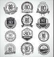 retro vintage anniversary badges and labels vector image vector image