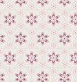 Rose Quartz flower in hexagon seamless pattern vector image vector image
